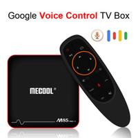 tv box complètement contrôlée achat en gros de-Android TV OS Contrôle de la voix Google TV Box Android 7.1 Smart Box Amlogic S905W CPU Quad Core 4K 3D 2GB RAM 16GB Mecool M8S Pro W