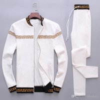 Wholesale sports leisure suits - Fashion Tracksuits Men Leisure Sport Suit Luxury Men's Sportswear Brand design Jogger Set Cool Sweatshirt free shipping