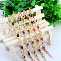 bracelets de fleur de diamant achat en gros de-Cristal autrichien coeur breloque bracelet mode couleur or fleur diamant résine dame bracelet femmes 's chaîne bracelet bijoux