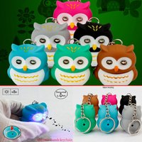 halloween novelty toys led uk led owls keychain with sound luminous key rings voice glowing