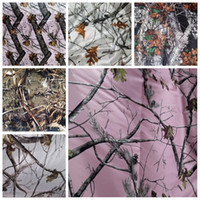 Cheap Sale Camo Satin Fabrics DiY Wedding Dresses Camouflage Real Tree Snowfall Fabrics Wholesale Satin Fabric