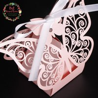 Wholesale chocolate wholesale china online - Laser Cut Small Butterfly Chocolates Beautiful Favor Canday Weddiing Decoration Hot Sale Cheap Boxes From China