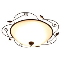 Wholesale wrought iron glass light - Wrought Iron glass Round Vintage Led ceiling lights plafond lamp for home living room lights ceiling light fixture Kitchen lamps