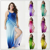 Wholesale sexy plus size swimwear wholesale for sale - 7 Colors Summer Female Beach Dresses Cover Ups Sexy Bikini Swimwear Bikinis Gradient Colors Casual Dresses CCA8760