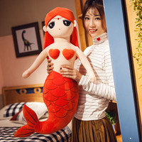 Wholesale mermaid doll toys resale online - Dorimytrader Big Lovely Cartoon Beauty Mermaid Plush Doll Fashion Stuffed Soft Sea maid Toy Pillow Girl Present inch cm DY60234
