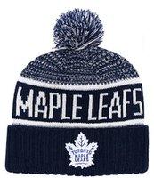 beanies novos quentes venda por atacado-New Beanies Maple Leafs Hóquei 2018 Hot Knit Beanie Pom Malha Chapéus Marinha De Beisebol De Futebol Basquete Esporte Gorros Mix Jogo Ordem Todos Os Tampas