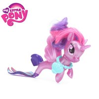 Wholesale my little pony - New Movie My Little Pony Fluttershy Rainbow Dash Pinkie Pie Seapony PVC Action Figures Shiny Pony Colletion Model Dolls Gift Toy