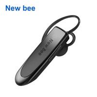 kostenlose ohrhörer bluetooth kopfhörer großhandel-Neue Bee Wireless Bluetooth Kopfhörer Portable Kopfhörer Bluetooth Headset Freisprecheinrichtung Ohrhörer mit Mikrofongehäuse im Auto für das Telefon