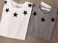 erkek çocuk giyim toptan satış-Yıldız baskı Kısa Kollu T gömlek Yaz Giyim Gelgit Marka çocuk Konfeksiyon Çocuk ferahlatıcı Saf Pamuk erkek giysileri