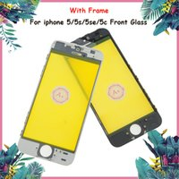 Wholesale iphone glass lens color for sale - Group buy Promised Grade A Quality Front Glass Screen for iphone s c se Black White Color With Frame iphone Glass Lens