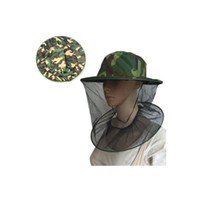 Wholesale red rounded hat for sale - Head Mounted Round Cap Insect Bee Mosquito Resistance Bug Net Mesh Head Face Hat Camouflage Hats Portable mn KK