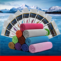 Wholesale cool yoga - Cool Towel Travelling outdoor Quick Dry Towel 30*90cm Summer Sports Fitness Gym Yoga Pilat Cooling Hypothermia Ice Cool Towels FFA037
