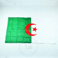 drapeau national de polyester achat en gros de-Drapeau de l'Algérie drapeau national Livraison gratuite 3x5 pi 90 * 150cm drapeau national pour le festival de la coupe du monde décoration de la maison drapeau de l'algérie