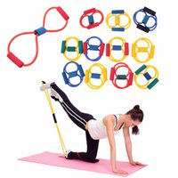 Resistance Band Yoga Pilates Exercise Stretch Fitness Tube Workout Bands CF
