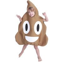 смешные карнавальные костюмы оптовых-Детские костюмы новинка смешные Emoji какашки одежда карнавал Хэллоуин партии ребенка производительность косплей комбинезон горячей продажи 47yd C