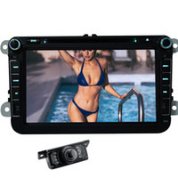 Wholesale Free Link Building - Rearciew Camera+8'' Car DVD Player for VW Can-bus Bluetooth Hands-free GPS RDS Radio Wifi Mirror Link Map Automotive Car Stereo Headunit