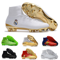 Wholesale magista obra fg yellow for sale - Group buy Men Women kid Soccer Shoes Mercurial CR7 Superfly V FG Boys Football shoes Magista Obra Women Youth Soccer Cleats Cristiano Ronaldo