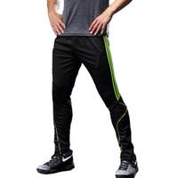 pantalon deportivo de futbol al por mayor-el juego del deporte Running Pantalones de los pantalones flacos delgados pantalones de jogging pantalones de fútbol de los hombres de la ropa que se ejecutan chándal