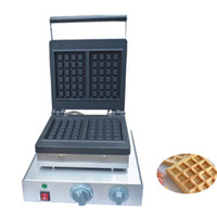 Wholesale waffle irons resale online - Qihang_top Hot Sale Industrial Commercial Waffle Maker Machine Square Waffle Making Stainless Steel Waffle Iron Maker