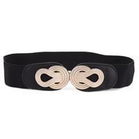 8542fb0a59e3 Designer de luxe en métal ceinture femme femme simple réglable télescopique ceinture  élastique noire couleur pure mode décoration 10xy bb