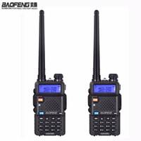 radios de dos vías cb al por mayor-NUEVO 2 unidades Baofeng uv-5r jamón Auriculares de radio Walkie Talkie 10 km Para dos vías estación de radio de doble banda Vhf Uhf móvil uv5r CB amador