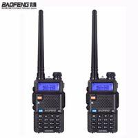 uhf cb radyo toptan satış-YENI 2 adet Baofeng uv-5r jambon Radyo Walkie Talkie Iki yönlü radyo Istasyonu Için 10 km Dual Band Vhf Uhf Mobil uv5r CB amador