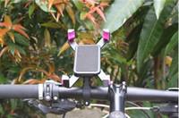 подставка для iphone для велосипедов оптовых-Велосипед Руль Клип Крепление Кронштейн 360 градусов вращения Мобильного Телефона Держатель Велосипеда Стенд Для iPhone 6 6 плюс 7 8 Для Samsung GPS