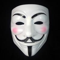 cadılar bayramı maskesi toptan satış-Vendetta Anonim Için DHL V Maske Masquerade Maskeleri Sevgililer Günü Parti Dekorasyon Tam Yüz Cadılar Bayramı Korkunç Cosplay Parti Maskesi WX9-391