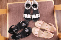 Wholesale Little Girls Red Shoes - New 2017 girls sandals fashion simple princess shoes little girl zipper student shoes