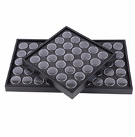 Wholesale Empty Box Nails - Wholesale Empty 25 50 Space Nail Art Powder Gems Rhinestone Storage Container Case Box Plate Manicure Tool