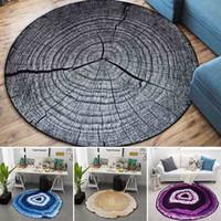 blaue muster bettwäsche groihandel-Kühle 3D Wachstum Ring Muster Teppich für Wohnzimmer Footcloth Boden Plüsch Teppich Matte Rutschfeste Badematten Schlafzimmer Badezimmer
