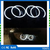 bmw e36 ışıklar toptan satış-Ücretsiz kargo yentl 4 Adet / grup LED Melek Gözler Yüzükler Işık Beyaz BMW E36 E38 E39 E46 3 5 7 Serisi Için Sıcak Beyaz Led Araba Styling