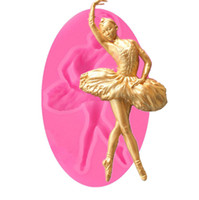 Wholesale cupcake toppers girl for sale - Group buy Lovely Ballet Girl Party Slicon Biscuit Mold Patisserie Gateau Cake Pastry Baking Tools Cupcake Toppers Baking Moulds