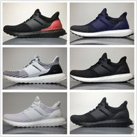 Wholesale Grey Knit - Best Quality Ultra Boost 4.0 Knit New Running Shoes Hot Sell Men Women Breathable Black Grey Blue Boots Sport Sneakers 36-45