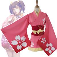 kleid bademäntel traditionellen großhandel-Drucken Floral Girl Anime Performance Kleid japanischen traditionellen Kimono mit Obi Frauen Cosplay Halloween Kostüm Casual Bademantel