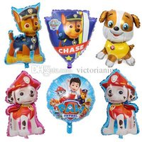 Wholesale New Patrol foil balloons inch Birthday party decorations baby shower Ryder Chase Marshall Skye Hand ballon Kids toys hot