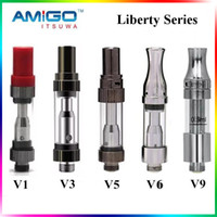 Wholesale Liberty Glasses - Amigo Liberty 100% Original Tank Glass Cartridge Amigo Vaporizer Pen 510 Thread Cartridge Big Hole Thick Oil Glass Tank Vape