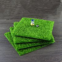 Wholesale Wholesale Moss - Artificial Fake Moss Decorative Lawn Micro Landscape Decoration DIY Mini Fairy Garden Simulation Plants Turf Green Grass 15x15cm Small Size