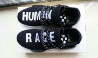 Wholesale Pw Blue - 2018 PW Pharrell Williams NMD HUMAN RACE In Yellow Red Black Blue Grey Green White Men Women Fashion Sport sneakers running Shoes eur36-45