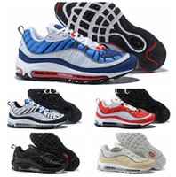 Wholesale Luminous Shoes - WithBox Air 98 Gundam Tour Yellow Running Shoes Sneakers Mens 20th anniversary 98 OG luminous Retro 98s Authentic Cheap Shoes 40-46