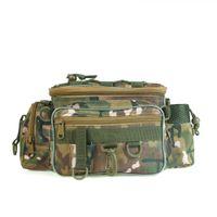 chasse à la ceinture de camping achat en gros de-LEO 28012 Chasse en plein air Lure Taille Pack Ceinture Taille Sac De Pêche Outils Taille Sac De Camouflage Paquet