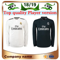 72600459fbc 18 19 Real Madrid Player version Long Sleeve Champions League Soccer Jersey  2019 Home RAMOS KROOS ISCO ASENSIO MODRIC MARCELO football shirt