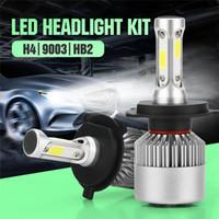 Wholesale replacement auto lights - Car-styling 2PCS Led Car Light Headlight Bulbs lamps kit H4 Led Auto Fog Light 6500k White DC 9-12-32V 20000LM 100w Replacement
