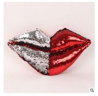 Wholesale lips chair for sale - Sexy Lip Cushions Reversible Paillette Funny Home Decoration Cushion Sofa Chair Pillows For Lover Gifts Pillows Stuffed Plush Toys