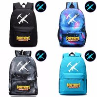 Wholesale wholesale nylon backpack - 12 Styles Fortnite Luminous game backpack Unisex Student School Book Bag Shoulder bag Travel Bag EEA466 6PCS