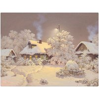 Wholesale cross house - New Arrival 5D Square Diamond Painting Snow house Cross Stitch Kit DIY Set Embroidery Rhinestone Home Decor Needlework AZ007