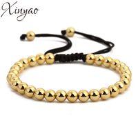 Wholesale bead macrame for sale - Group buy 2017 Gold Color Copper Hematite Beads Bracelets New Handmade Braiding Macrame Bracelet Men Women Pulseras Mujer