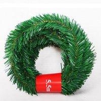 ingrosso erbe rosa-La protezione ambientale interna dell'hotel modellando casuale le decorazioni di Natale del nastro del legame dell'erba del rattan di Natale 5.5m Commercio all'ingrosso