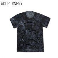 camisas táticas de secagem rápida venda por atacado-Camuflagem Kryptek Tactical Camiseta Caça T Shirt Respirável Esporte Secagem Rápida