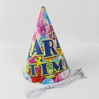 Wholesale hat parts - NEW Arrival Party Supplies Cheering Toys Paper Hat Cartoon hat Lovely Part Time Theme Cap Child Favors 12pcs lot